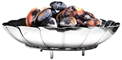Portable FireBowl for use with other camping grills, or by itself; safely contains a fire and keeps fire off the ground Constructed from durable stainless steel to provide high rust and corrosion resistance Lightweight and collapsible, yet allows eno...