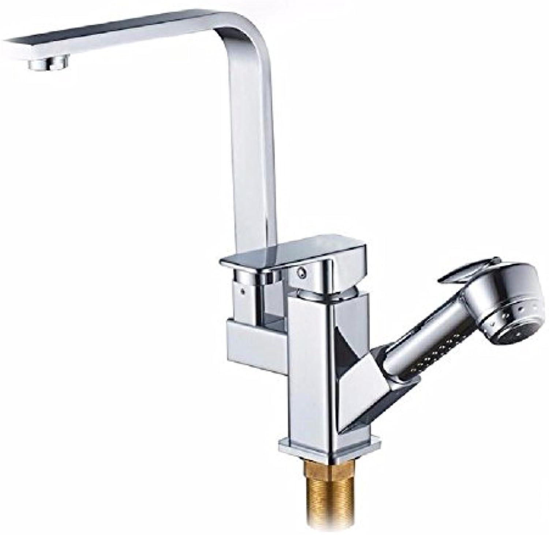 NewBorn Faucet Wasserhhne Warmes und Kaltes Wasser groe Qualitt der Kupfer Küche Das Gericht die Wasserhhne mit Pull-Down-Spritzpistole Wasser Leitungswasser
