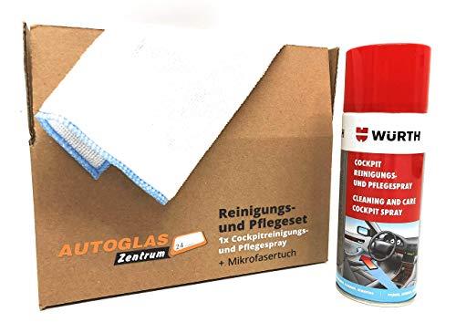 WÜRTH - Premium Cockpit Reinigungs- und Pflegespray/Duft: Zitrone/Inhalt: 400ml/(33,73 EUR/l) + Microfasertuch