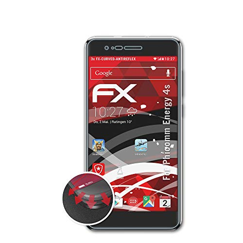 atFolix Schutzfolie kompatibel mit Phicomm Energy 4s Folie, entspiegelnde & Flexible FX Bildschirmschutzfolie (3X)