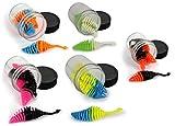 Storfisk fishing & more 5 - Cebo para truchas de goma blanda con aroma en caja de plástico, sumergible, UV activo, color: set
