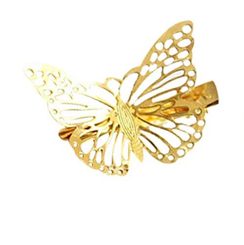 TTWOMEN Damen Neue Hohle Gold Schmetterling Haarband Haarnadel Stirnband SüßE Braut Kopfschmuck Mode