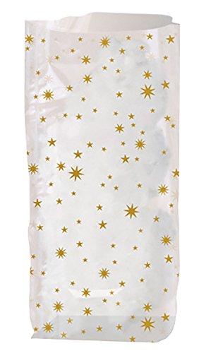 Ursus 6080000 - Geschenk Bodenbeutel Sterne, ca. 18 x 30 cm, 10 Stück