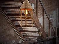 HLL Novelly装飾シャンデリア、アメリカのカントリーロフトクリエイティブ人格ヴィンテージ錬鉄製シャンデリアロープセービングシャンデリア