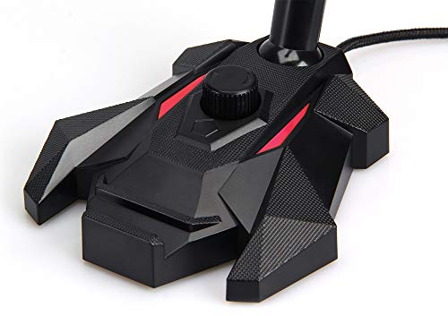 Amazon Basics – USB-Gaming-Mikrofon, rot