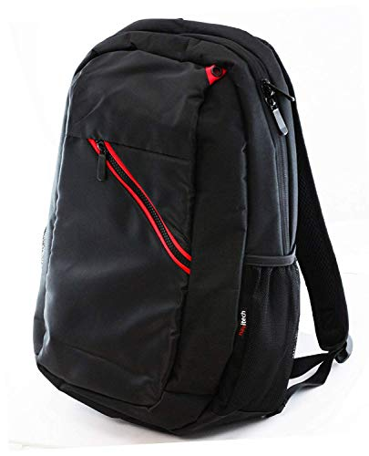 Navitech Black Laptop Backpack/Rucksack Compatible with The Acer Chromebook CB515-1HT-P78M Touch Laptop 15, 6'