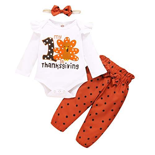 Newborn Baby Girl Clothes Turkey Print Bodysuit...