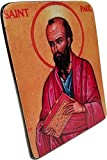This icon design is of Saint Paul the Apostle, also known by the name of Saul of Tarsus, one of the early pioneers of Christianity Hand-carved out of a naturally black stone unique to the region of Biblical Antioch Makes for a perfect addition to a r...