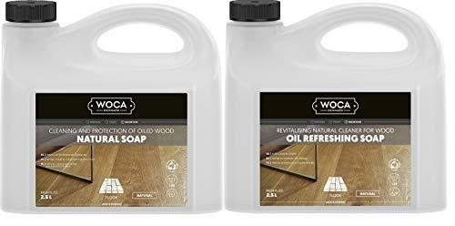 Woca Maintenance Sets 2.5 L (1 x Natural Soap 2.5L, 1 x Oil Refreshing Soap Natural 2.5L)