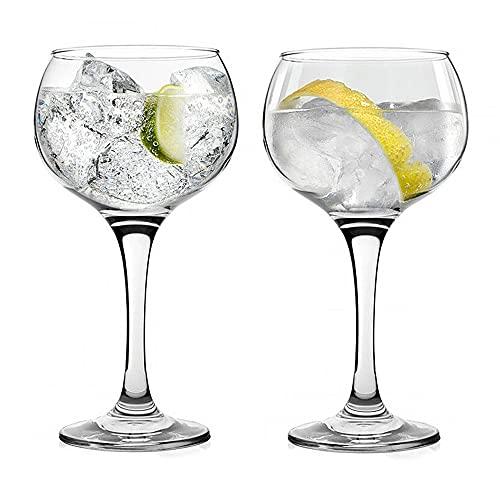 UNISHOP Set de Copas para Gin Tonic, Copas de Combinado de Cristal, 79CL Aptas para Lavavajillas (2)