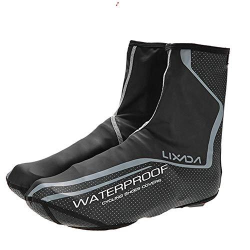 MEROURII Fahrrad Überschuhe wasserdichte Wärmere Winddicht Überschuhe Schuhe Überzug für Rennrad MTB