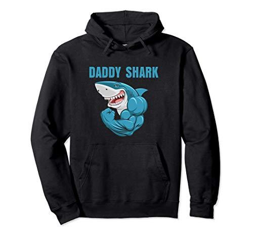 Daddy Shark Funny Gym Sudadera con Capucha