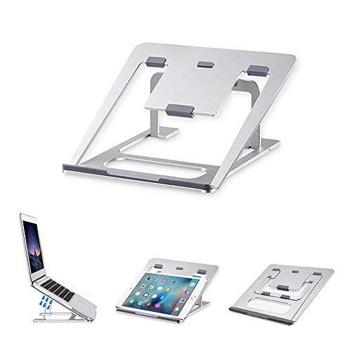 Brightz De Aluminio Ordenador portátil representa 6 Alturas Ajustables de refrigeración Soporte Soporte de la Almohadilla de Escritorio tabletas
