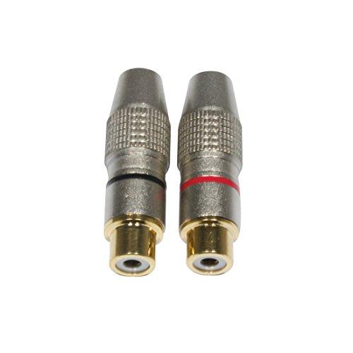 Accu Cable dorado-bañado en juego de Cable RCA hembra conector