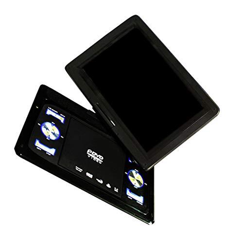 Guangcailun 13.9' portátil de Entrada de AV DVD de Salida Cable Reproductor de DVD TV inalámbrico señal de recepción del Puerto USB Reproductor de vídeo Enchufe de la UE