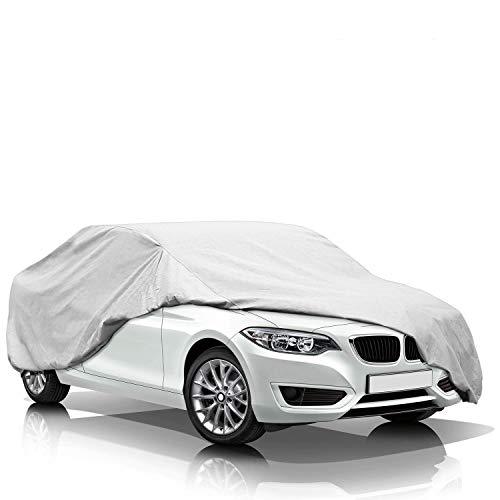 KAKIT Lightweight Car Cover Waterproof All Weather for Sedan, Polyester...
