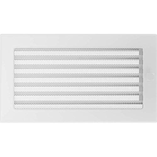 Kratki Haeusler-Shop - Rejilla de ventilación para chimenea (17 x 30 cm, con persianas), color blanco