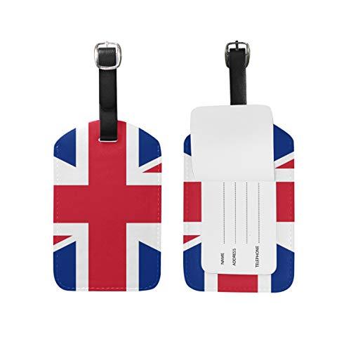 Eslifey Bandera de Inglaterra de piel sintética para maletas, etiquetas de equipaje, cubierta de privacidad para bolsa de viaje