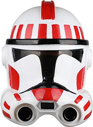 PIAOL Star Wars Weißer Soldat Maske Stormtrooper Klon Soldat Helm Halloween Film Cosplay Helm Requisiten PVC Masken,White-OneSize