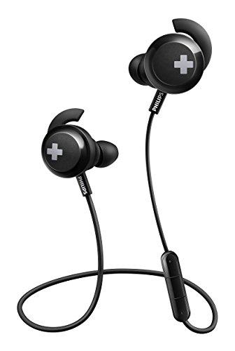 Philips SHB4305BK/00 In-Ears Kopfhörer (Bluetooth, voluminöse Bässe, Kabellos, Integriertes Mikrofon, 6 Stunden Akkulaufzeit) schwarz