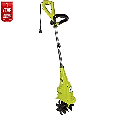 Sun Joe Tiller Joe Aardvark Electric Garden Cultivator TJ599E with 1 Year Extended Warranty - (Renewed)