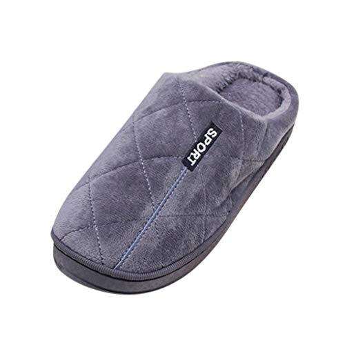 DNOQN Frauen Große Größe Beiläufig Zuhause Plus Samt Warme Schuhe Gemütlich Hausschuhe aus Baumwolle