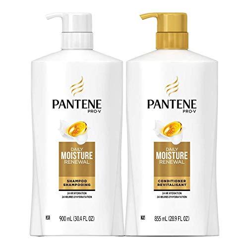 Pantene Pro-V Daily Moisture Renewal, 30.4 Fl.Oz (900ml) Shampoo & 28.9 Fl.Oz (855ml) Conditioner Set