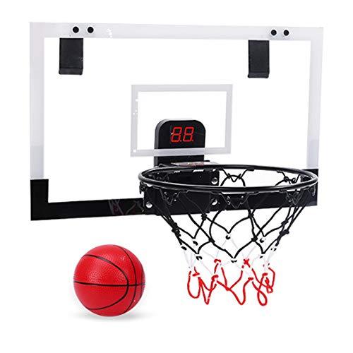 ANAN Colgando Canasta Baloncesto, Canasta Baloncesto Infantil con Bomba y Baloncesto, Juguete Deportivo con Marcador automático, Tablero de Pared de Baloncesto para Oficina y casa