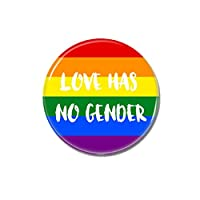 3x Love has no Gender Button 25mm Pride CSD Lgbt