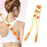 Self- Neck Back Massager Handheld,Back Roller for Back Neck Pain, Flexible Relax Chronic Muscle Tension of Leg,Waist,Hip,Athletic Recovery Tool for Men and Women,Whole Body Massage