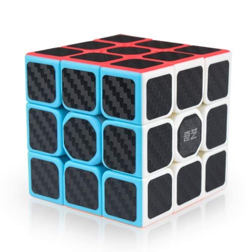 Little Golden Elephant Qiyi Warrior W Speed Cube 3x3- Smooth Carbon Fiber Sticker Magic Cube 3x3x3 Puzzles Toys , The Most Educational Toy to Effectively Improve Child