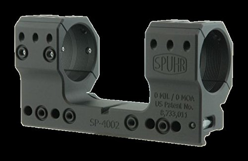 Spuhr 34mm Riflescope Mount, Black, Height- 38mm/1.5in, SP-4002