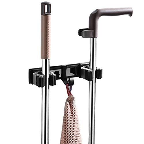 Almabner Mop-Aufhänger für Besen, ohne Bohren Mop-Aufhänger aus Edelstahl, abgebildet, B