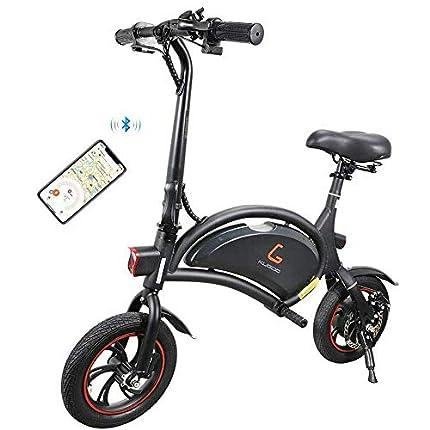 Kugoo Bicicleta eléctrica, Bicicleta eléctrica Plegable de 12 Pulgadas con Motor de 250 W, Velocidad máxima de la Bicicleta de Ciudad 25 km/h, 23 km de Largo Alcance