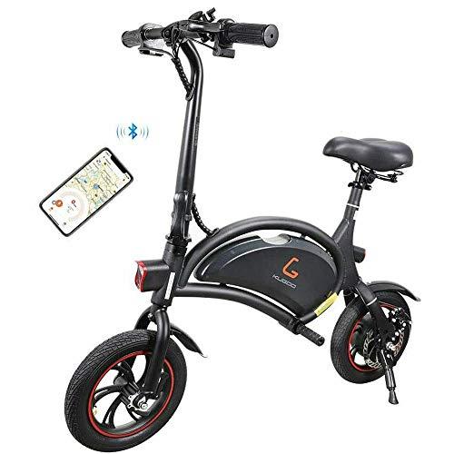 Kugoo Bicicleta eléctrica, Bicicleta eléctrica Plegable de 12 Pulgadas con Motor de 250 W, Velocidad máxima de la Bicicleta de Ciudad 25 km/h, 23 km de Largo Alcance, Control de Aplicaciones