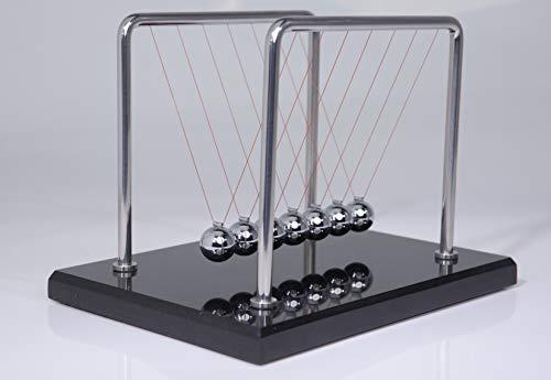 CERROPI 7 Balls Newton's Cradle -11 Inch, Marble Base