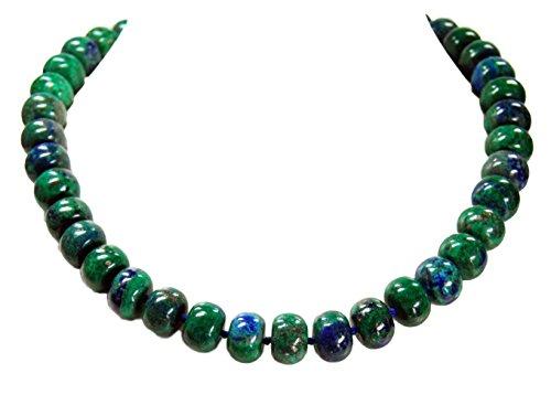 Schöne Edelsteinkette aus Azurit-Malachit in Radform
