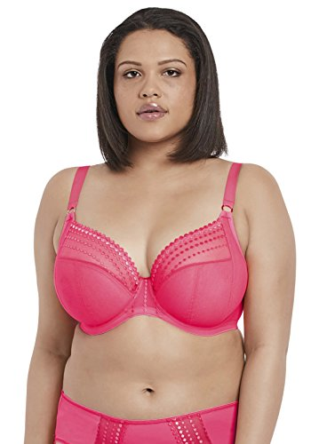 Elomi Women's Plus-size Matilda Underwire Plunge Bra Bra, -neon pink, 36HH
