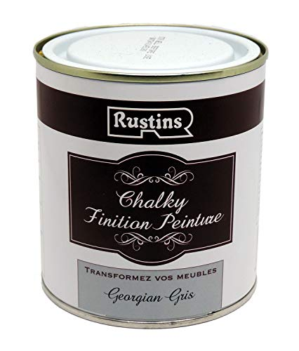Rustins CHAPG500 Chalky Finish 500ml Georgian Grey Chalk Paint, Shabby Ch