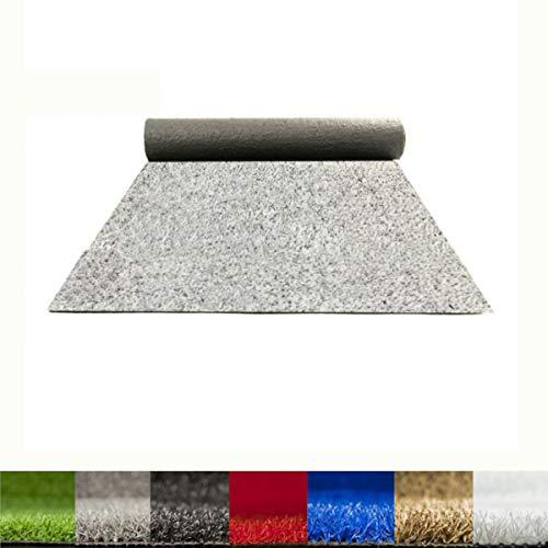 Lucatex – Césped artificial Ibiza 8mm | césped artificial de colores azul, rojo, blanco, verde. | Césped artificial ideal decoraciones de interior o exterior con fácil instalación (2x10 m, Blanco)