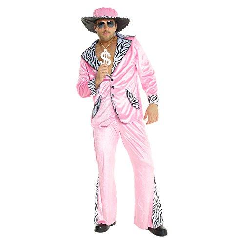 Morph Disfraz para Hombre Chulo Rosa Traje de Terciopelo para Carnival - L