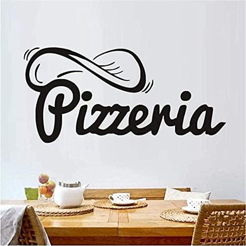 Etiqueta de la pared arte calcomanía decoración creativa decoración del hogar tienda de pizza arte flor autoadhesivo pizza restaurante cocina azulejo 43 * 91 cm