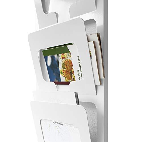 Design Zeitschriftenhalter aus Metall für die Wand/Designer Katalog Wandhalter (Weiß)