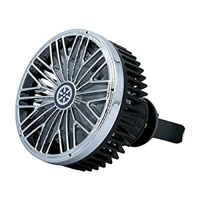 Car Air Vent USB Fan Auto Cooling Fan?Small Air Conditioner Car Fan?4 Speeds, 360 °Rotatable?Mini Driver Fan Tigivemen