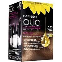 Garnier Olia - Coloración Permanente sin Amoniaco, con Aceites Florales de Origen Natural - Tono 6.35 Rubio Caramelo