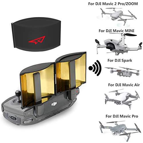 RCGEEK Drone Range Extender Signal Booster Antenna Foldable Compatible with DJI Mavic Mini Mavic Pro Mavic 2 Pro/Zoom Mavic Air DJI Spark Remote Controller, 1 Piece
