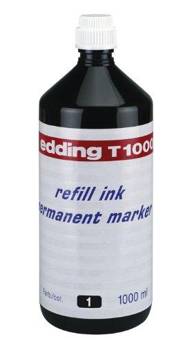 edding T1000 Permanentmarker Nachfülltinte - Inhalt: 1000ml - Farbe: schwarz - Tusche für edding Permanent Marker (auch edding EcoLine)