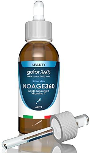 NOAGE360 | Siero viso lunga durata con Acido Ialuronico e Vitamine per migliorare la texture della pelle, idratarla, e donarle un aspetto giovanile | gofor360