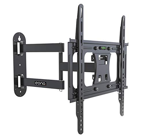"Eono Essential 23""-55"" Double Arm Tilt & Swivel TV Wall Mount Bracket with Built-In Spirit Level for LED, LCD, 3D, Curved, Plasma, Flat Screen Televisions - Super Strong 30kg Weight Capacity"