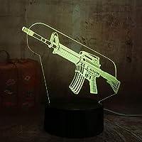 New Boy Cool 3D Led Night Light Pubg Submachine Gun M4 Boy Gift 7 Color Change USB Battery Table Lamp Christmas Gift